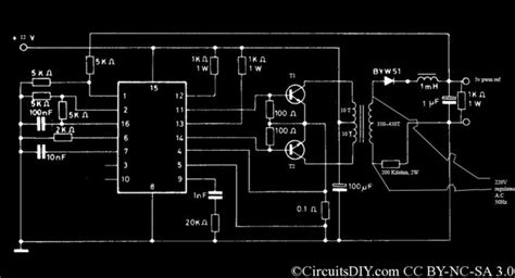 pwm inverter circuit  watt  cost circuits diy