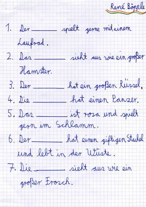 eigenes kreuzwortraetsel grammatik im deutschunterricht