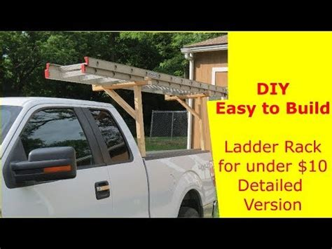 diy easy  build ladder rack    detailed
