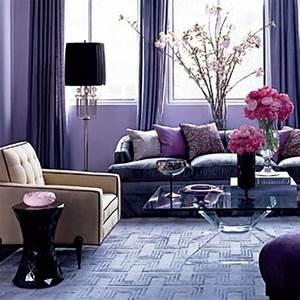 Romantic purple living room brown and purple living room for Purple decor for living room