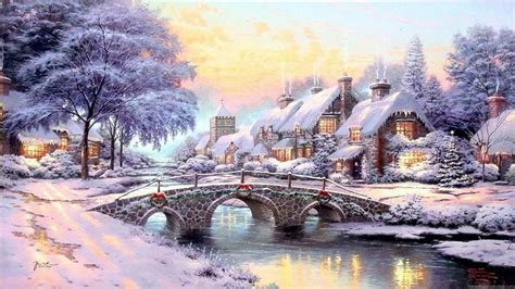 homeade lifesize thinas kinkade christmas tree kinkade kinkade wallpaper paintings hd desktop