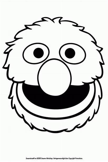 Coloring Grover Silhouette Sesame Street Birthday Templates