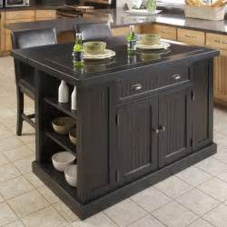 black kitchen island with seating home styles nantucket kitchen island black kitchen islands and carts at hayneedle