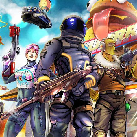 desktop wallpaper  video game fortnite art hd