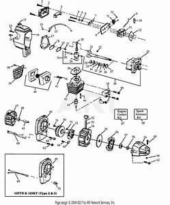 Poulan Xt125 Gas Trimmer Parts Diagram For Engine  U0026 Shroud