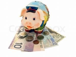 Pension Steuer Berechnen : sparschwein gef llt mit geld und ist umgeben von m nzen stock foto colourbox ~ Themetempest.com Abrechnung