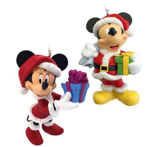 mickey mouse minnie mouse santa disney christmas