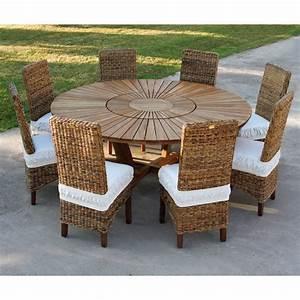 Table Ronde En Teck : table ronde en teck real table pour le jardin et la maison ~ Teatrodelosmanantiales.com Idées de Décoration