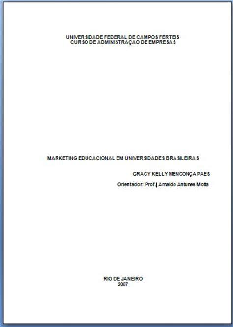capa de trabalho nas normas abnt tcc monografia artigos a capa da monografia capa da monografia click