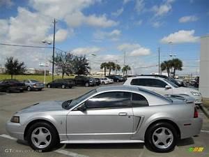 Silver Metallic 2003 Ford Mustang V6 Coupe Exterior Photo #45385830 | GTCarLot.com