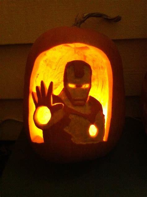 iron pumpkin stencils iron man pumpkin by flourchild on deviantart