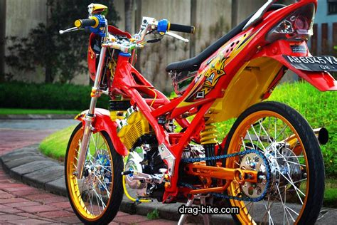 Modifikasi Motor Fu by Modifikasi Motor Suzuki Satria Fu 150 Drag Style