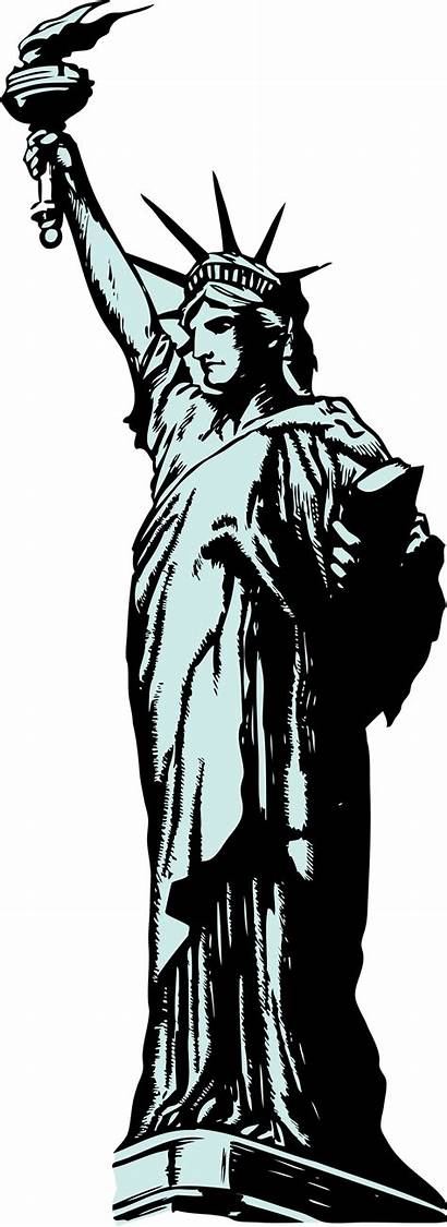 Statue Liberty Transparent Background Illustration Clip