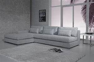 Ashfield modern light grey fabric sectional sofa for Modern light grey fabric sectional sofa