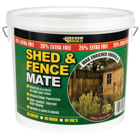 Shed Treatment Products by Everbuild Shed Fence Mate Sticky Products