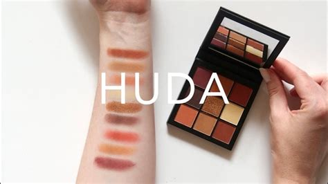 Huda Beauty Obsessions Palette  Warm Brown Swatches And