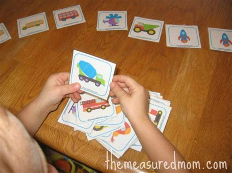 card games for preschoolers free matching memory for transportation the 889