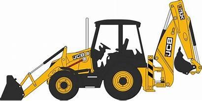 Jcb Clipart Digger Bulldozer Backhoe Loader 3cx