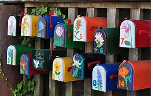 Cool Mailboxes For Sale With Beautiful Cool Painted
