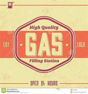 vintage gasoline sign retro template royalty free stock With vintage sign templates free
