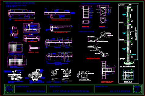 rcc construction detail dwg detail  autocad designs cad