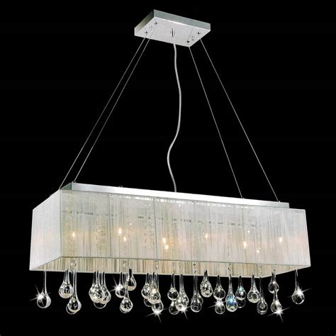white rectangle l shade brizzo lighting stores 32 quot gocce modern string shade