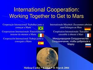 PPT - International Cooperation: Working Together to Get ...