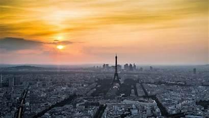 Eiffel Tower France Paris Background Cityscape Sunset