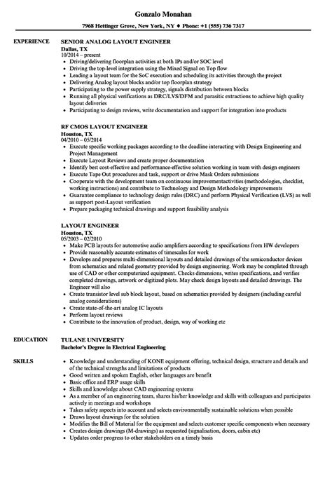 Resume Layout by Engineering Resume Layout Bijeefopijburg Nl
