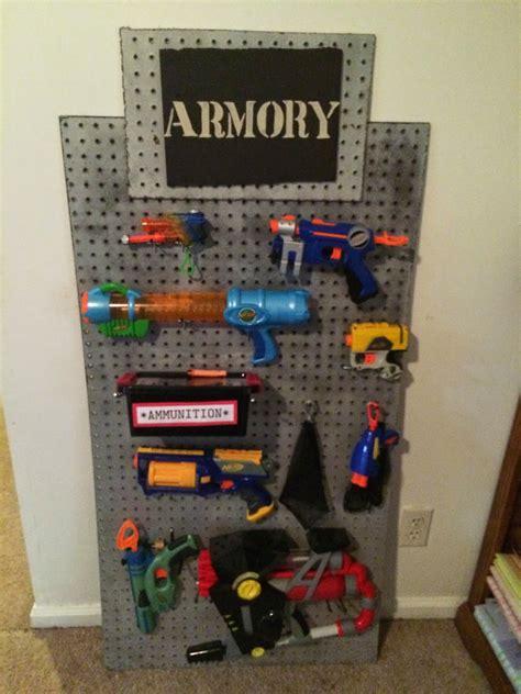 nerf gun rack nerf storage ideas a and a glue gun