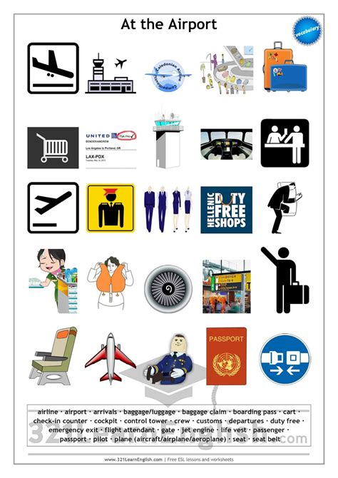 321 Learn Englishcom Vocabulary At The Airport (level B1