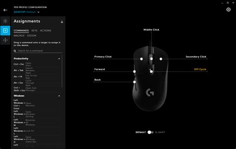 Once the software is downloaded and installed, this is what you are presented with first. Logitech G403 HERO Review - RTINGS.com