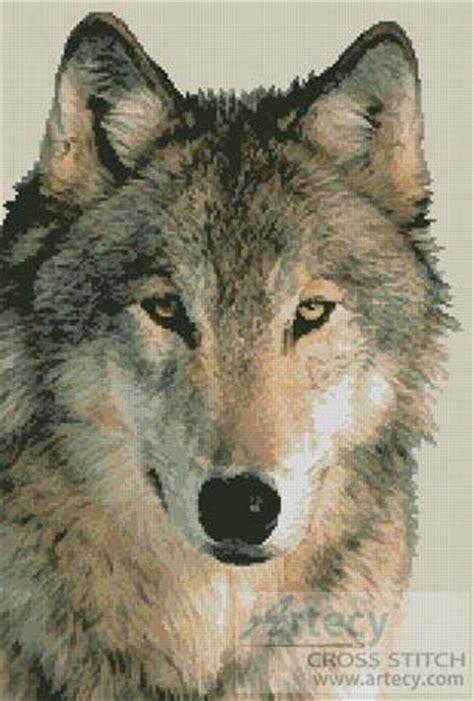 wolf  cross stitch pattern wild