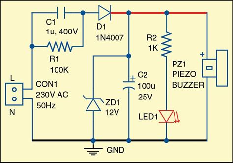 Simple Light Sound Indicator For Mains Power Supply