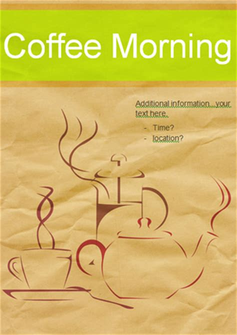 editable coffee morning poster  early years