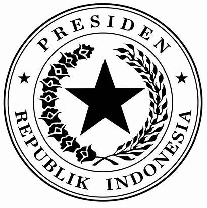 Seal Presidential Indonesian Svg Gold Vice Indonesia