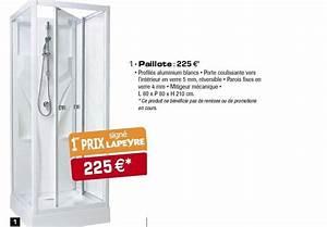Cabine De Douche Lapeyre : lapeyre sa promotion paillote produit maison lapeyre ~ Premium-room.com Idées de Décoration