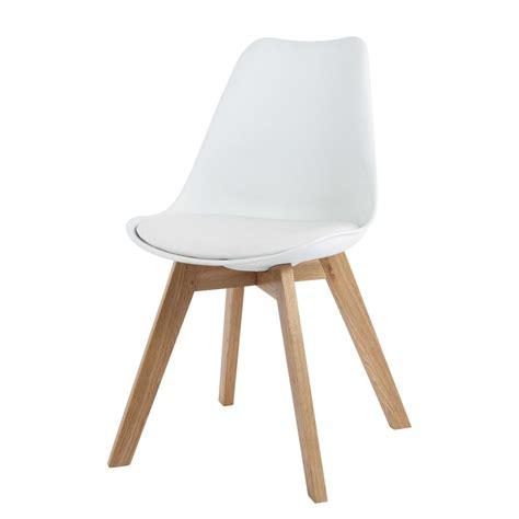 chaises blanche chaise scandinave blanche maisons du monde