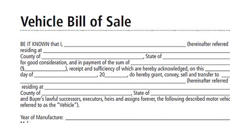 bill ofsale bill of sale form real estate forms