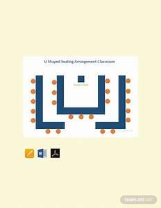 Free U Shaped Seating Arrangement Classroom Template Pdf