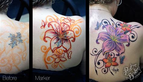 flower cover  tattoos  paulberkey body ink ideas pinterest