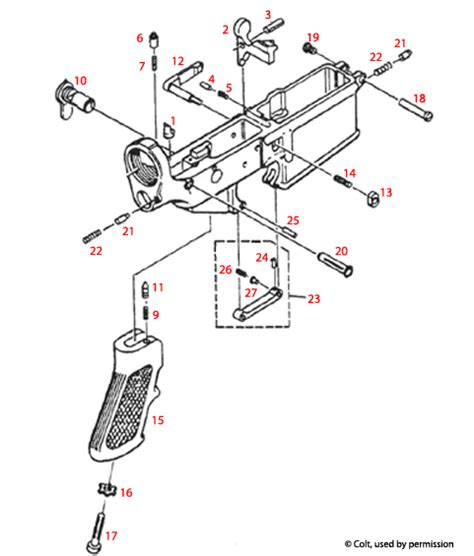 Ar 15 Assembly Diagram by Ar 15 Lower Receiver All Models Top Supplier Of