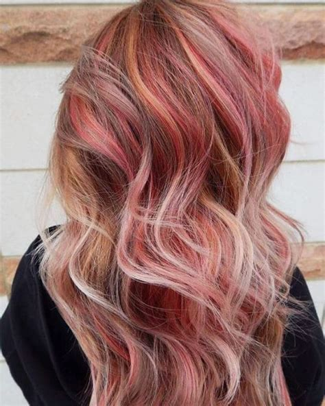 With Pink Highlights Hairstyles by 40 Pink Hairstyles Pastel Colors Pink Highlights