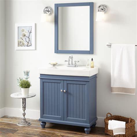 30quot lander vanity cabinet blue bathroom