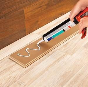 Plancher Flottant Pose : poser du plancher flottant au mur en tapes ~ Premium-room.com Idées de Décoration