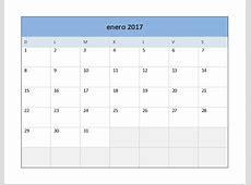 Descarga el Calendario 2017 en Excel Excel Total