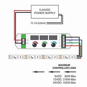 3 Knob Led Controller With Rf Remote For 12
