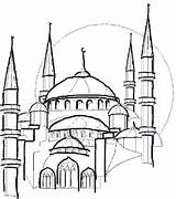 Coloring Mosque Eid Pages Drawing Colouring Line Masjid Ramadan Islam Familyholiday Colour Mecca Sheet Getdrawings Guide Dessin Holiday Taj Mahal sketch template