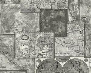 Vintage Tapete Grau : tapete vintage weltkarte grau faro as creation 6643 27 ~ Sanjose-hotels-ca.com Haus und Dekorationen