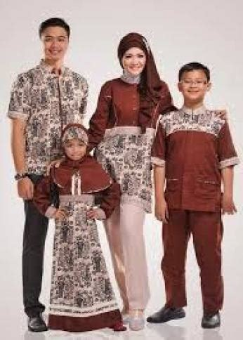 model baju batik mama papa  anak terbaru